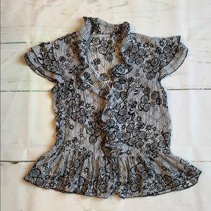 Flirty ruffled blouse